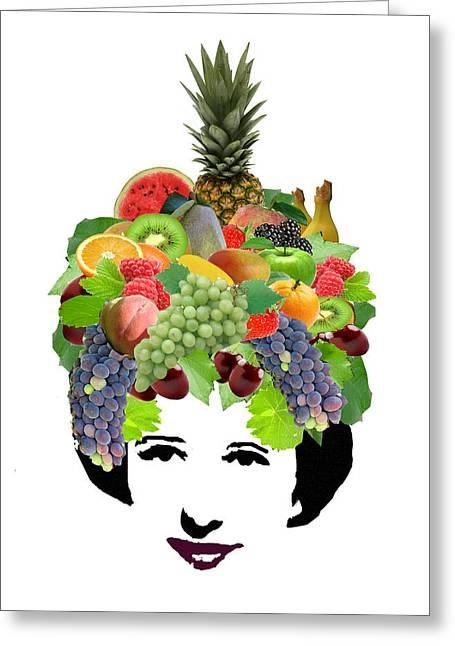 Kiwi Digital Greeting Cards - Fruit Lady Greeting Card by Jennifer Schwab