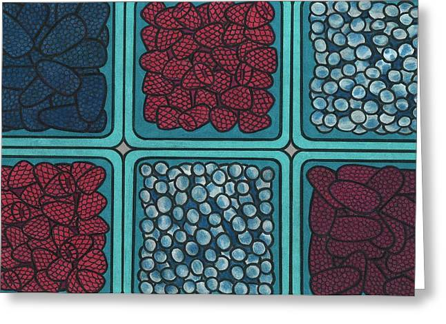 Blueberry Drawings Greeting Cards - Fruit Greeting Card by Lesley Rutherford