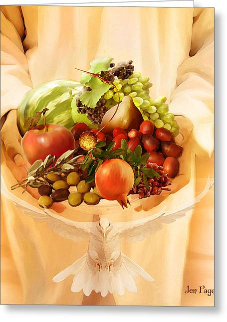 Jennifer Page Greeting Cards - Fruit of the Spirit Greeting Card by Jennifer Page
