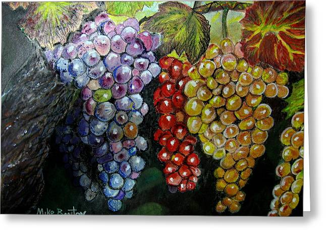 Grape Pastels Greeting Cards - Fruit of the Vine Greeting Card by Mike Benton