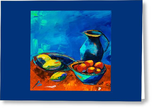 Fruit Palette Greeting Card by Elise Palmigiani