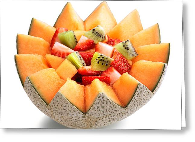 Raw Greeting Cards - Fruit salad Greeting Card by Johan Swanepoel