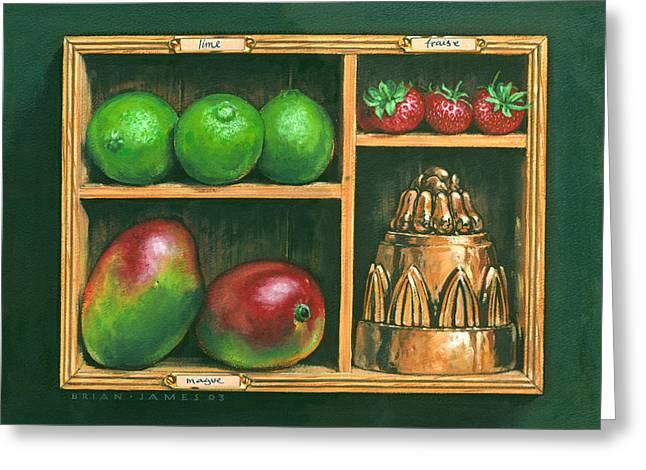 Fruit Shelf Greeting Card by Brian James