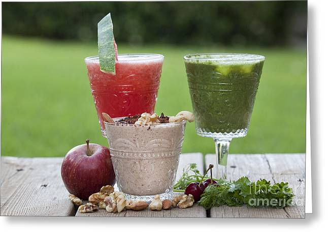 Fruit Smoothies Greeting Card by Gal Eitan