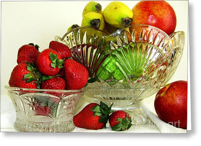 Mango Greeting Cards - Fruit Still Life 1 Greeting Card by Margaret Newcomb