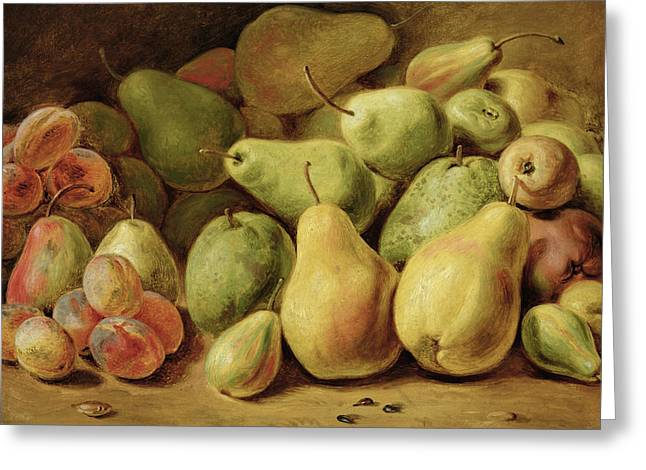 Pear Art Greeting Cards - Fruit Still Life Greeting Card by Johann Friedrich August Tischbein