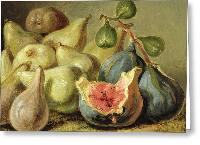 Pear Art Greeting Cards - Fruit Still Life Greeting Card by Johann Heinrich Wilhelm Tischbein