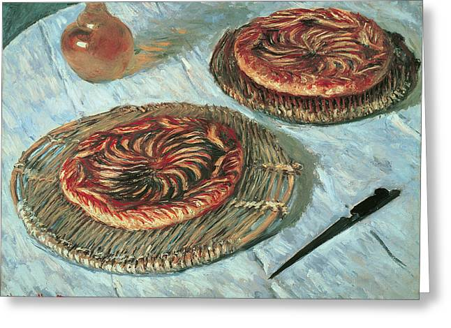 Carafe Greeting Cards - Fruit Tarts, 1882 Oil On Canvas Greeting Card by Claude Monet