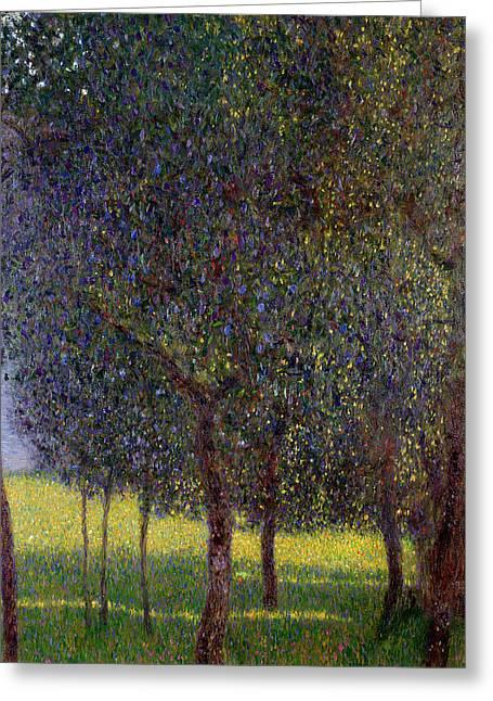 Tree Art Greeting Cards - Fruit Trees, 1901 Greeting Card by Gustav Klimt