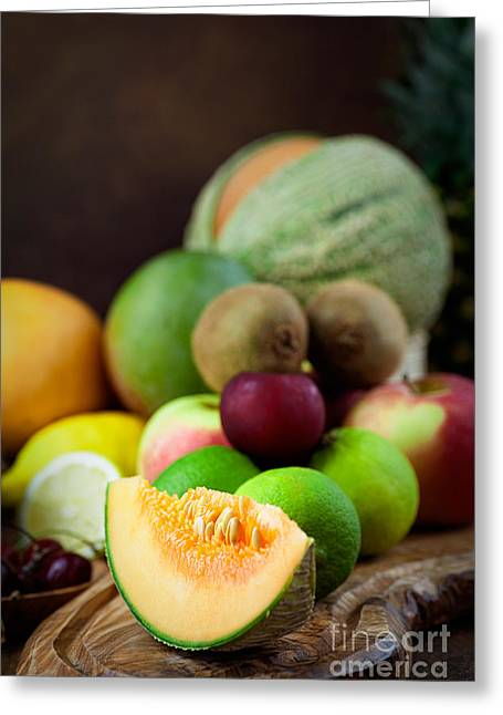 Melon Greeting Cards - Fruit variety Greeting Card by Mythja  Photography
