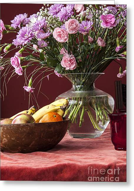 Glass Vase Greeting Cards - Fruitful Life Greeting Card by Donald Davis