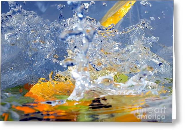 Fruits And Water Greeting Card by Sinisa Botas