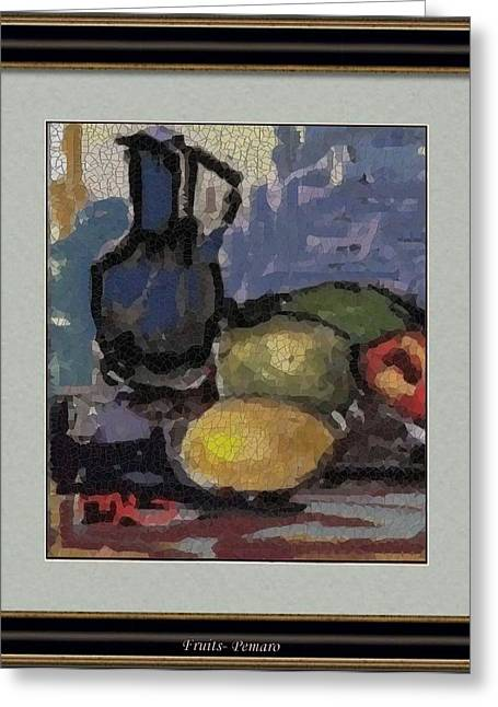 Modern Art Greeting Cards - fruits F2 Greeting Card by Pemaro
