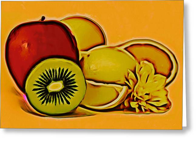 Photomanipulation Paintings Greeting Cards - Fruits Greeting Card by Nikola Durdevic