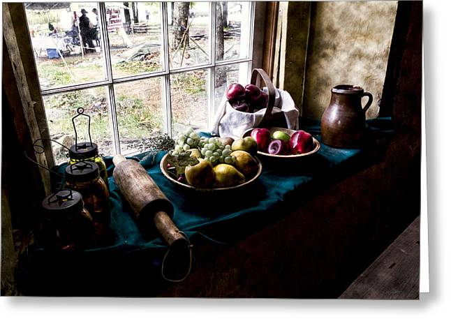 Tabletop Greeting Cards - Fruits Of Harvest Greeting Card by Peter Chilelli