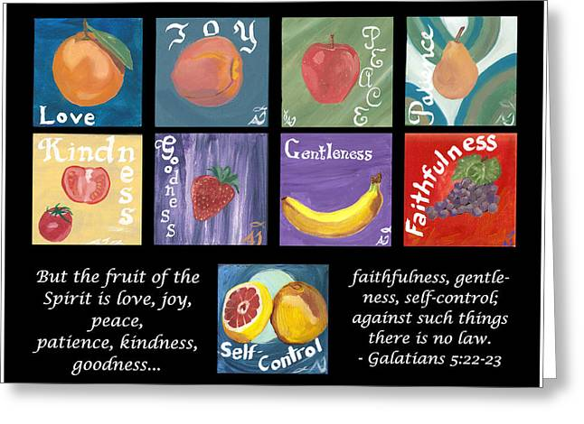 Home Of The Spirit Greeting Cards - Fruits of the Holy Spirit Greeting Card by Amber Joy Eifler