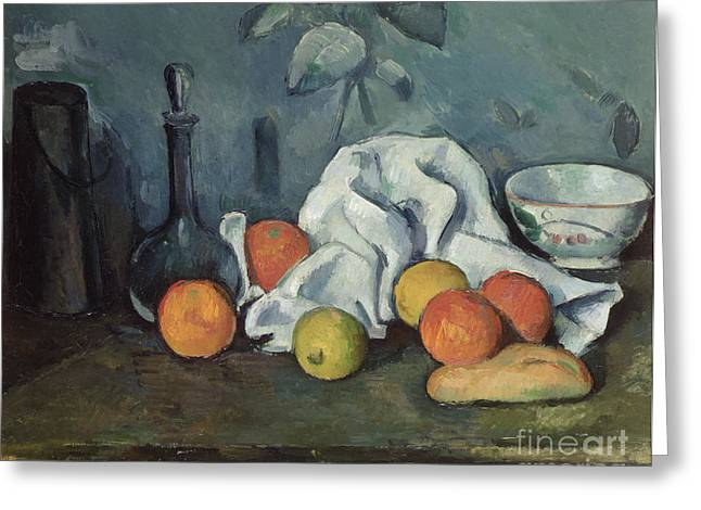 Posts Greeting Cards - Fruits Greeting Card by Paul Cezanne