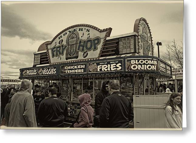 Fry Hop Greeting Card by Tom Gari Gallery-Three-Photography