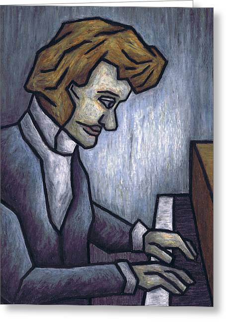 Kamil Greeting Cards - Fryderyk Chopin - Prelude in E-Minor Greeting Card by Kamil Swiatek