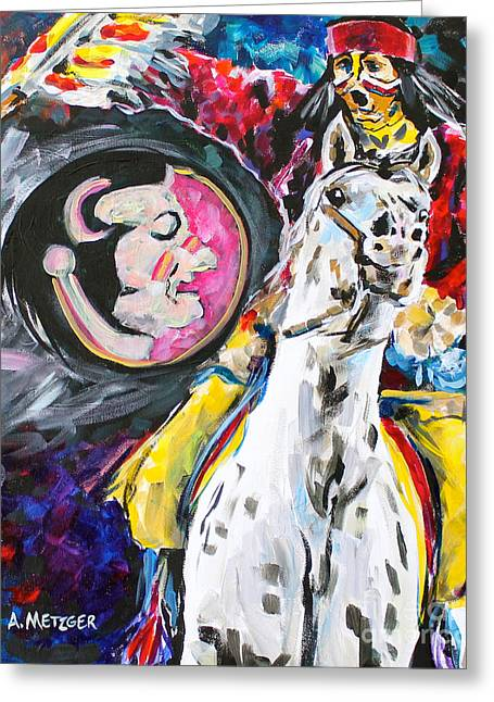 Mascots Paintings Greeting Cards - FS Mascot Greeting Card by Alan Metzger