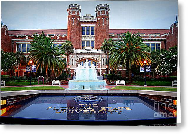 Fsu In Spring Greeting Card by Paul  Wilford