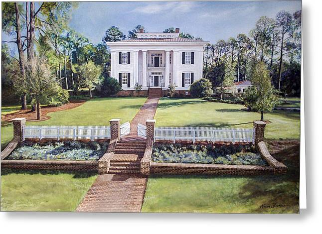 St Petersburg Florida Paintings Greeting Cards - FSU President House Greeting Card by Kevin Thomas