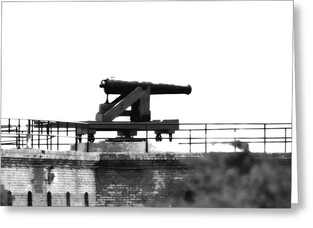 Gaines Greeting Cards - Ft. Gaines - Alabama - Cannon Greeting Card by Travis Truelove