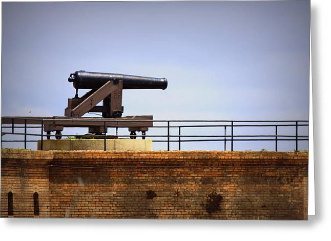 Gaines Greeting Cards - Ft Gaines - Cannon Greeting Card by Travis Truelove