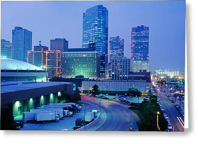 Ft Worth Greeting Cards - Ft Worth, Texas, Usa Greeting Card by Panoramic Images
