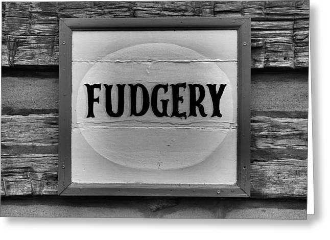 Sweet Tooth Greeting Cards - Fudgery Greeting Card by Dan Sproul