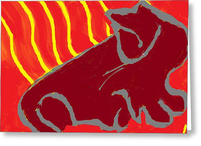 Abstract Digital Drawings Greeting Cards - Fugal Innie  Greeting Card by Anita Dale Livaditis