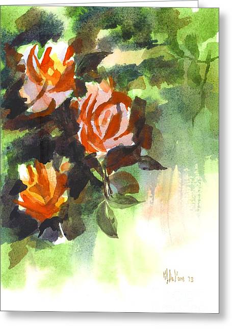 Fugitive Greeting Cards - Fugitive Red Roses Greeting Card by Kip DeVore
