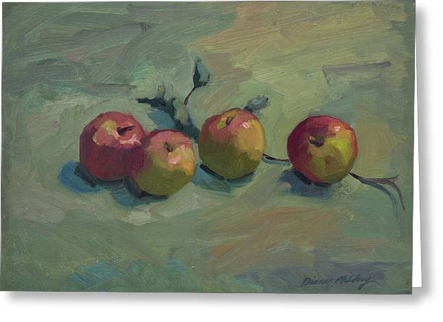 Fuji Greeting Cards - Fuji Apples Greeting Card by Diane McClary