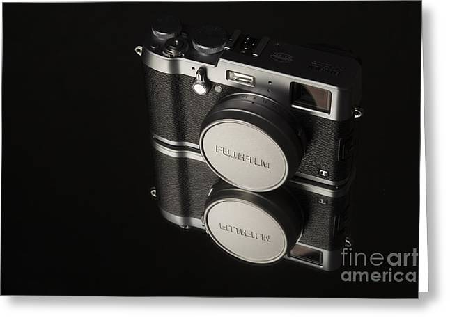 Dslr Greeting Cards - Fujifilm x100t Camera Greeting Card by Edward Fielding