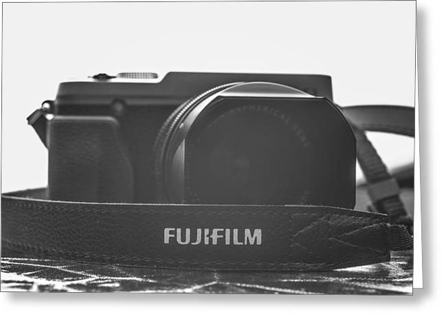 Aperture Greeting Cards - FujiFilm XE1 Black Greeting Card by David Haskett