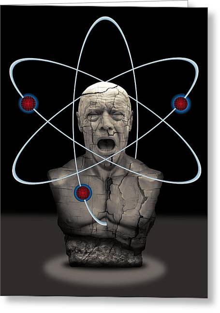 Meltdown Greeting Cards - Fukushima Man Greeting Card by Daniel Hagerman