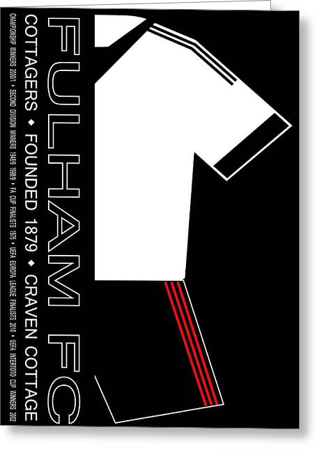 Craven Cottage Greeting Cards - Fulham Premier League Football Club Greeting Card by Neil Finnemore