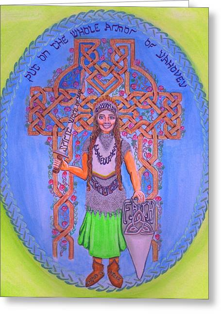Prophesy Greeting Cards - Full armor of YHWH woman Greeting Card by Hidden  Mountain