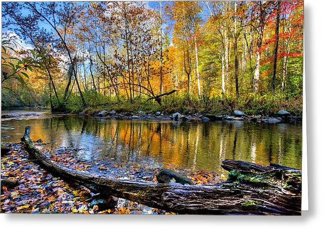Autumn Landscape Photographs Greeting Cards - Full Box of Crayons Greeting Card by Debra and Dave Vanderlaan