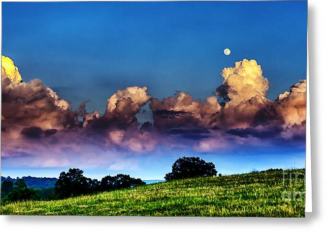 Luna Greeting Cards - Full Moon and Clouds Greeting Card by Thomas R Fletcher
