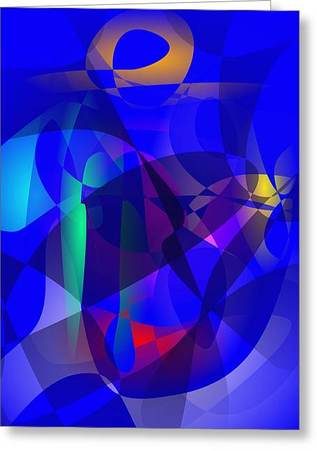 Gradations Digital Art Greeting Cards - Full Moon Art Greeting Card by Masaaki Kimura