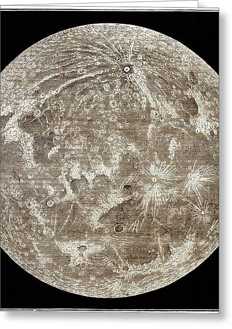 Full Moon By Warren De La Rue Greeting Card by Sheila Terry