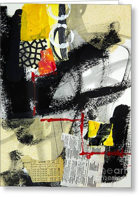 Abstraction Mixed Media Greeting Cards - Full Moon Greeting Card by Elena Nosyreva