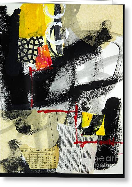 Abstractions Mixed Media Greeting Cards - Full Moon Greeting Card by Elena Nosyreva