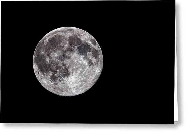 Heavenly Body Greeting Cards - Full Moon Greeting Card by Grant Glendinning
