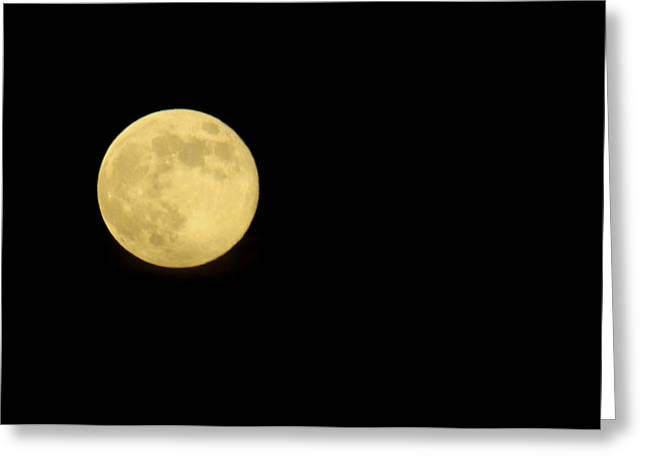 Ephemeris Greeting Cards - Full Moon Greeting Card by Greg Thiemeyer