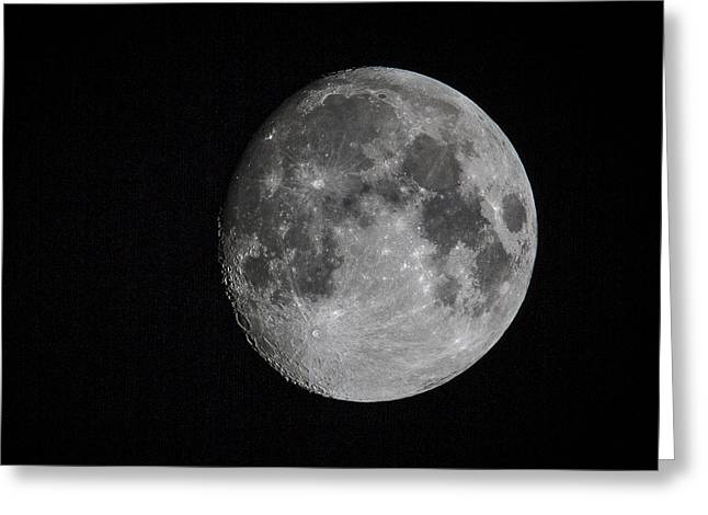 Luna Greeting Cards - Full Moon Greeting Card by Jean Noren