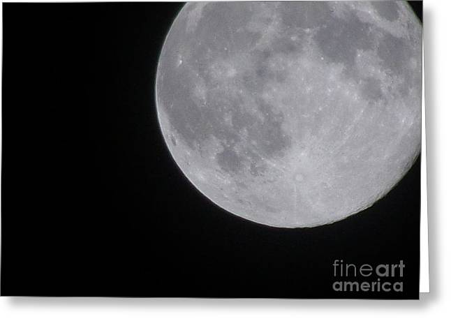 Man In The Moon Greeting Cards - Full Moon Greeting Card by Kami Catherman