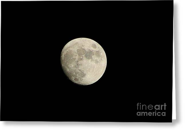 Beauty In Nature Greeting Cards - Our Full Moon Greeting Card by Neal  Eslinger