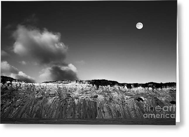 Marconi Beach Greeting Cards - Full Moon Over Cape Cod Greeting Card by Diane Diederich